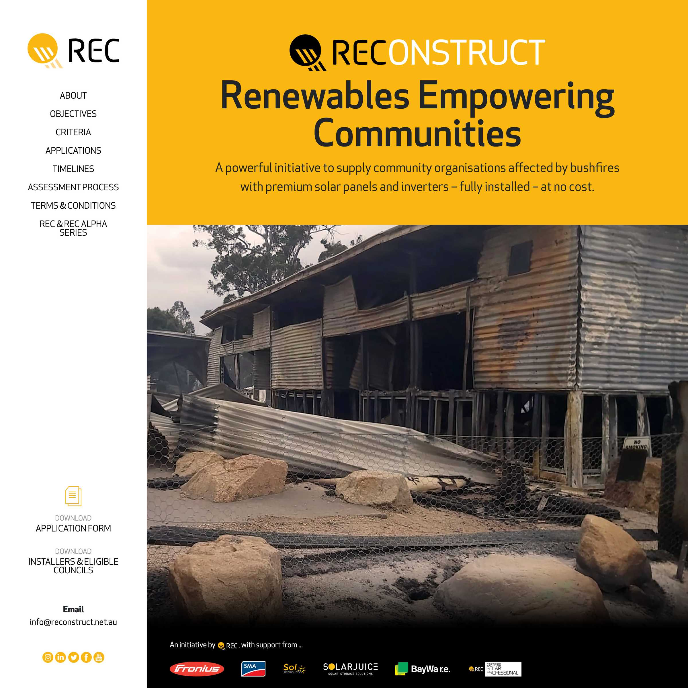 Screenshot of the REConstruct project