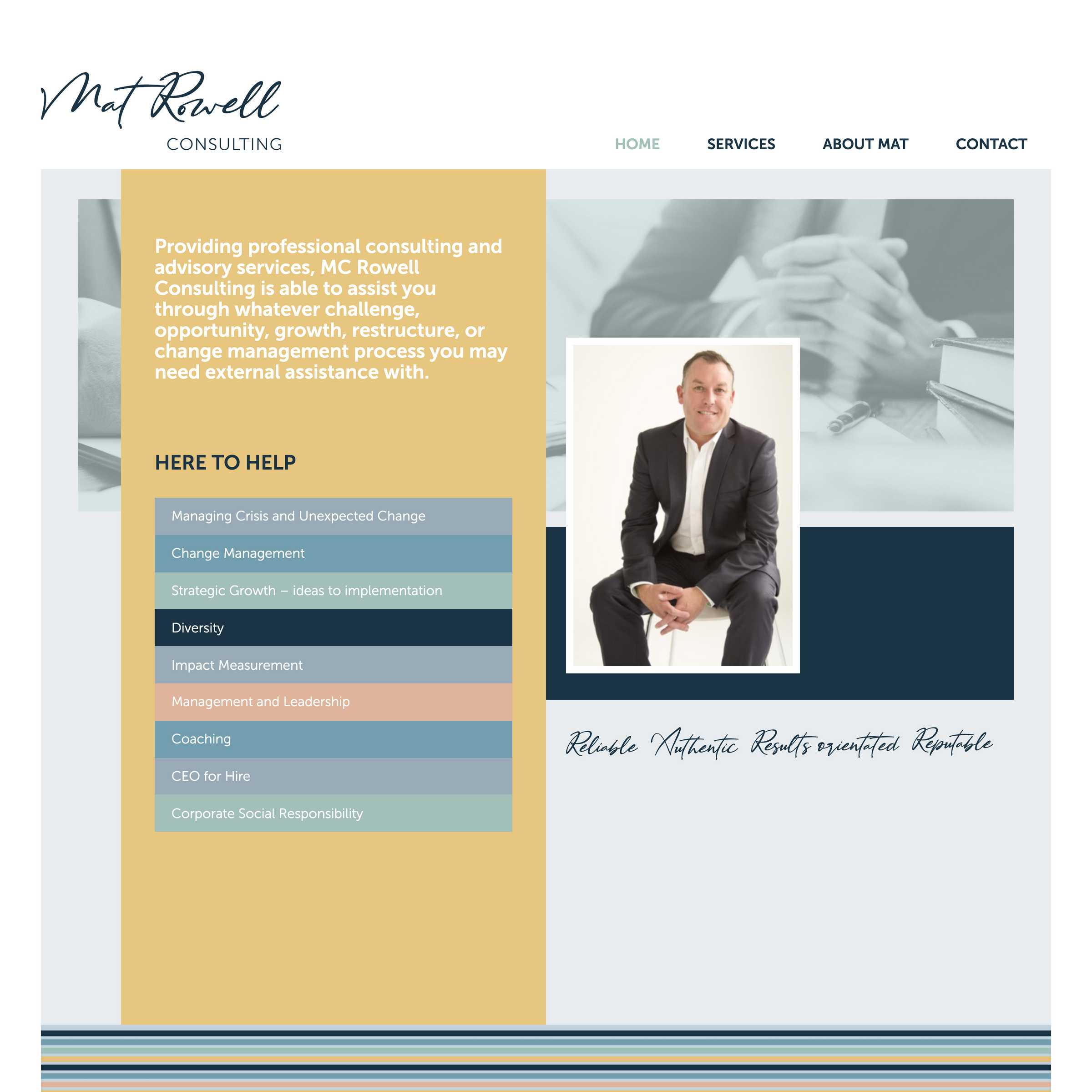 Screenshot of the Mat Rowell project